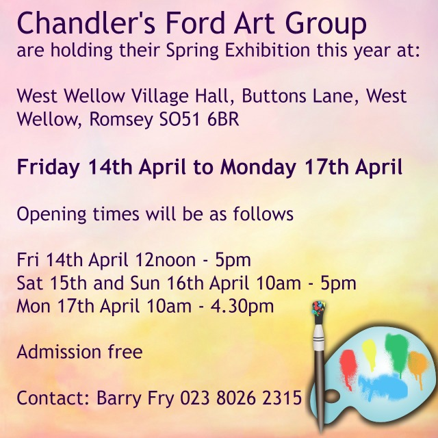 Chandler's Ford Art Group spring exhibition 2017