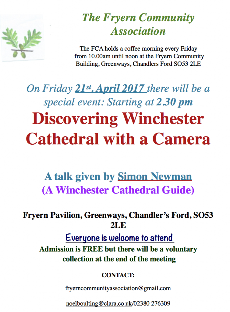 discovering Winchester Cathedral with a camera