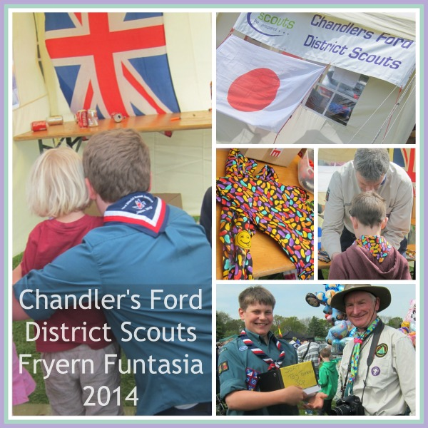 "Chandler's Ford District Scouts - Fryern Funtasia 2014. Fundraising for <a href=""http://chandlersford-wsj-2015.blogspot.co.uk/"">World Scout Jamboree in Japan in 2015</a>."