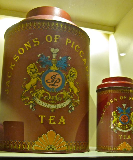 Jacksons of Piccadilly tea caddy at Tea Museum (Ahmad Tea)