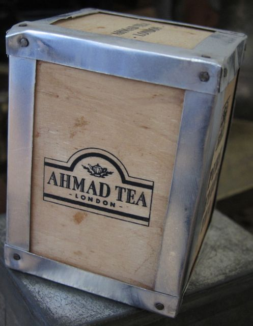 Old-fashioned tea chest