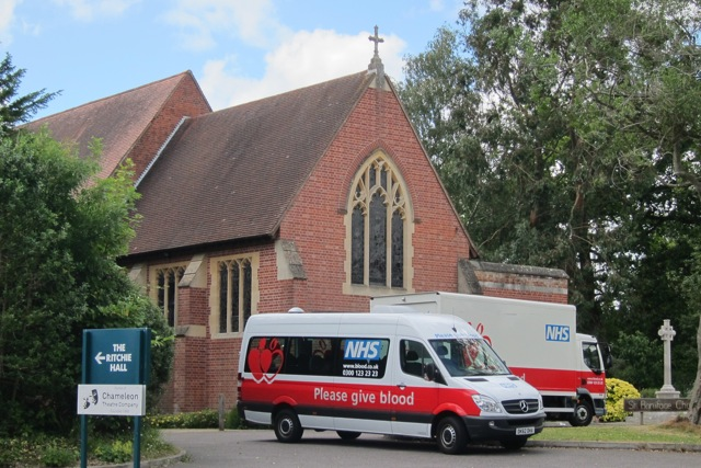 Give Blood - at St. Boniface Church on Hursley Road.