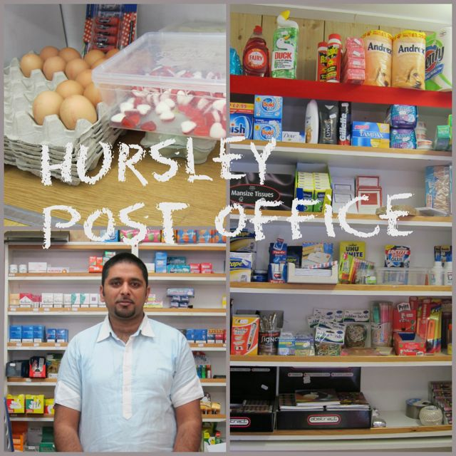 Hursley post offices, near Winchester, sells egg, lottery, stamps, and do dry cleaning. It opens 7 days a week.
