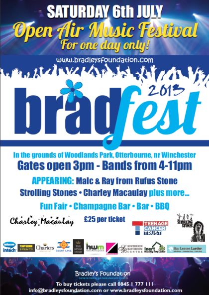 Bradfest 2013 by Bradley's Foundation. The charity supports children with cancer.