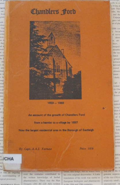 Chandler's Ford, a book by Captain A.A.J. Fortune. Price: 10/6