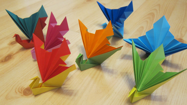 Origami cranes by Janet