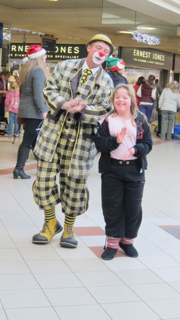 Performer in Swan Centre today