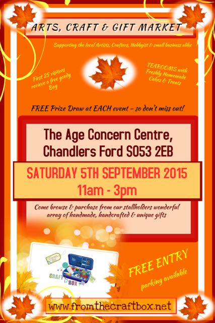 Age Concern Centre 5th September Market Poster