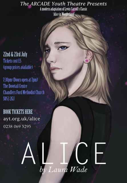 Alice Youth Theatre presents Alice, at Chandler's Ford Dovetail Centre.