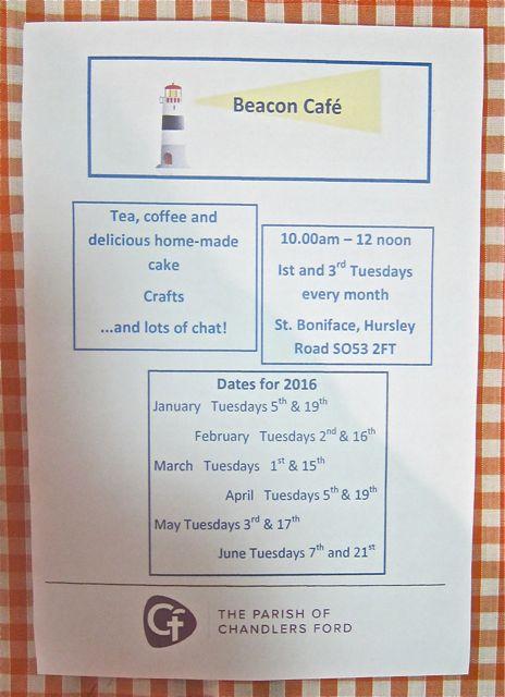 Beacon Café dates for 2016.