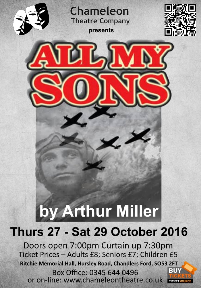 Chameleon Theatre Chandler's Ford: All My Sons by Arthur Miller 27-29 October 2016