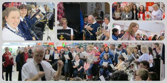 Churches Together carol singing in Asda in 2013.