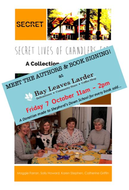 Chandler's Ford authors book signing at Bay Leaves Larder in Hiltingbury.
