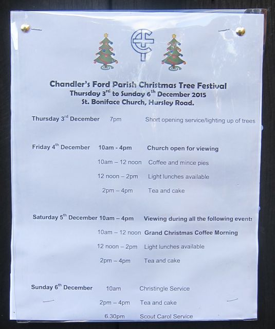 Christmas Tree Festival Parish Church 2015