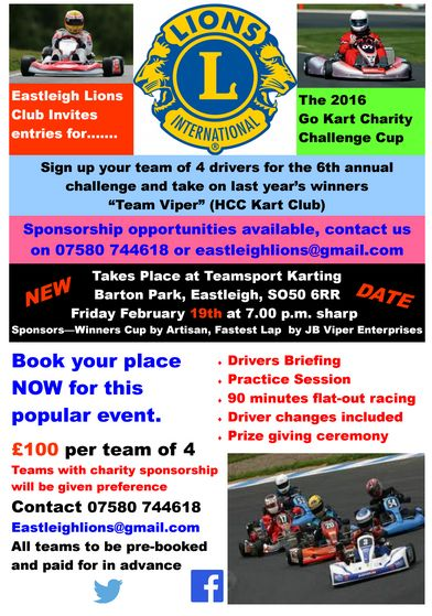 Eastleigh Lions Go Karts 19th Feb 2016