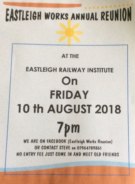 Eastleigh Works Annual Reunion: 10th August