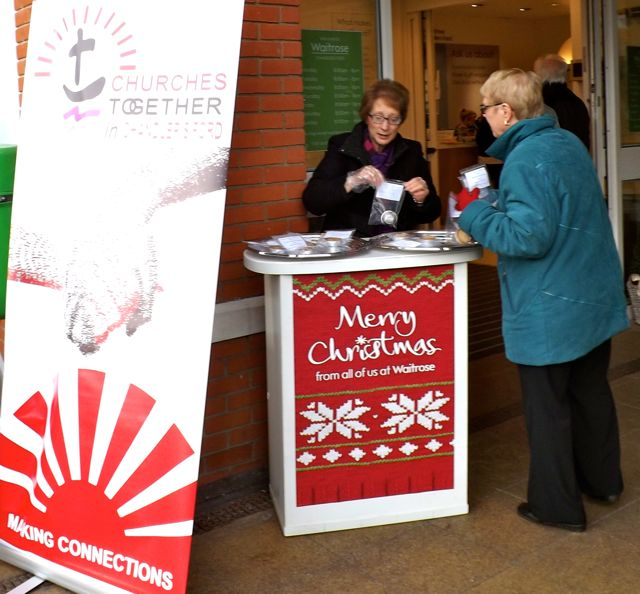 Free mince pies - Churches Together in Chandler's Ford at Waitrose.