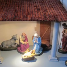 """Where is Joseph?"" Nativity set at St. Martin in the Wood in Chandler's Ford."