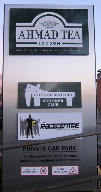 Chandler's Ford Central Precinct has a new sign.