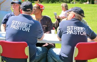 Street Pastors at Fryern Funtasia in May 2013.