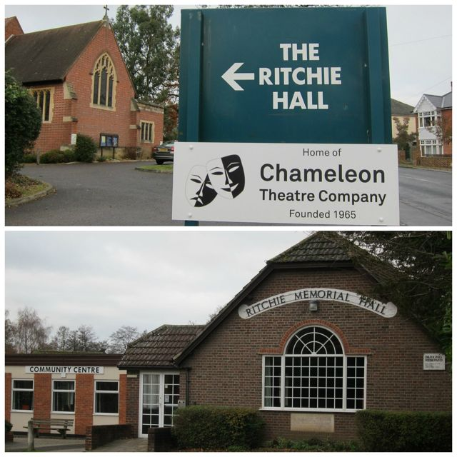 The Ritchie Hall and The Chameleon Theatre Company - on Hursley Road, Chandler's Ford.