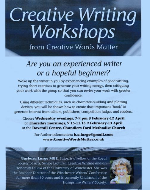 Creative writing workshops in Chandler's Ford
