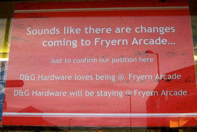 """D&G Hardware loves being @ Fryern Arcade."""