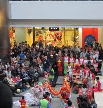 Lion Dance for the Chinese New Year, 2012, West Quay, Southampton.