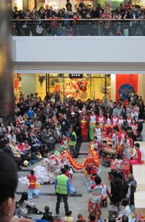 Lion Dance for the Chinese New Year, 2011, West Quay, Southampton.