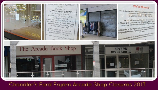 fryern arcade shop closures 2013 collage