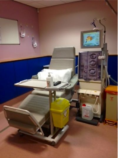 One of 18 stations in Chandler's Ford Dialysis Unit.