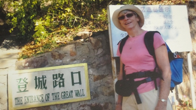Linda: trekking 100-mile along Great Wall of China in October 2012 for charity.