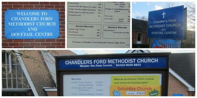 Chandler's Ford Methodist Church: indecisive about the apostrophe.