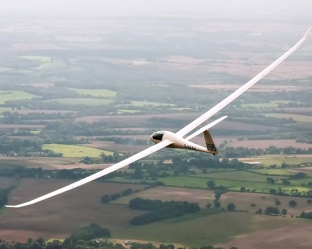Flying my glider: somewhere between Winchester and Stockbridge.
