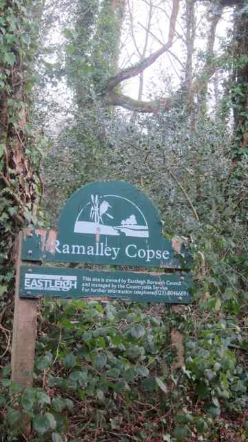 Ramalley Copse sign