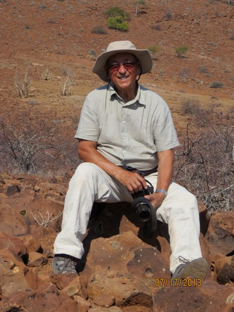 Roger Clark, trustee of The Hilt in Chandler's Ford, on mountain in Naminia, Africa.
