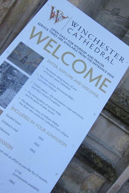 Welcome to Winchester Cathedral.