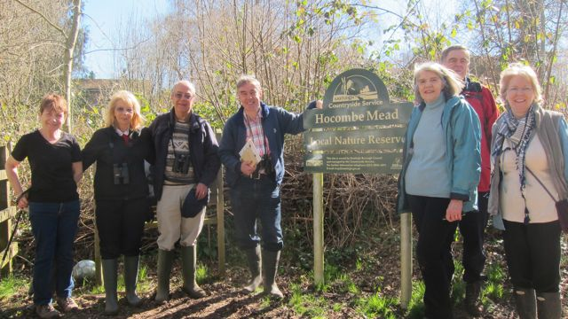 Guided walk with Friends of Hocombe Mead.