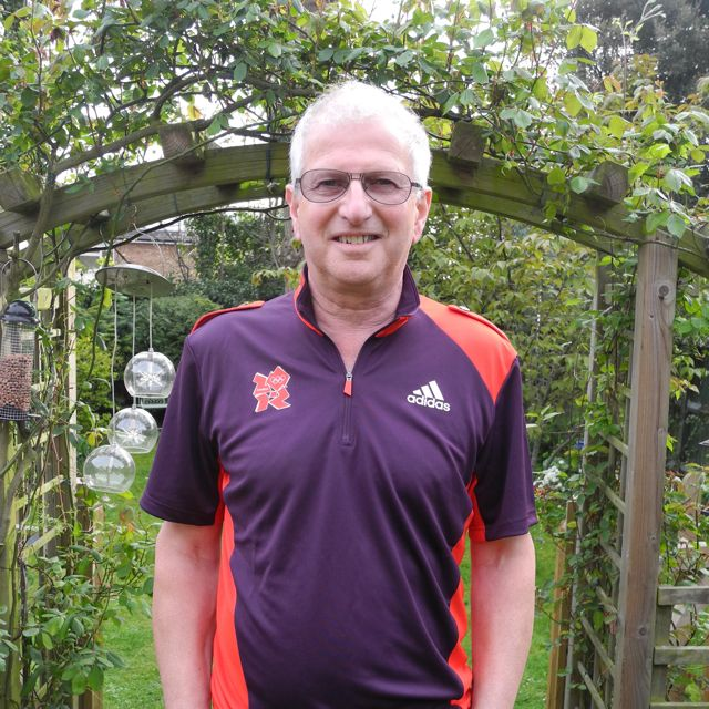 Ray as a Gamesmaker at the London Olympics in 2012.