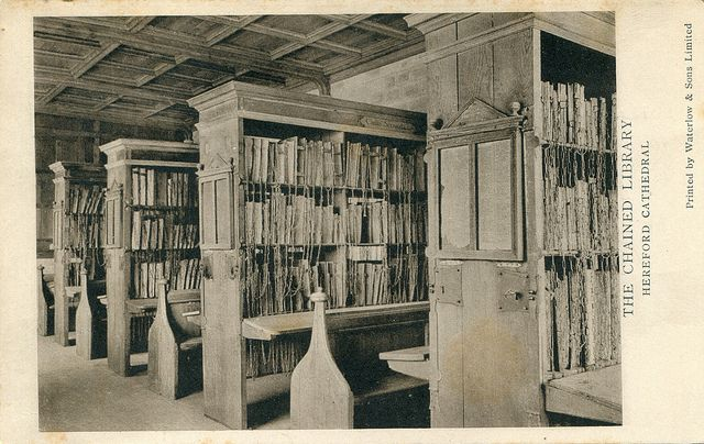 Chained Library, Hereford Cathedral. Image by pellethepoet via Flickr.