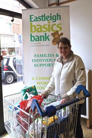 Hazel collects food donations from St. Boniface and St. Martin in the Wood every week and transport them to Eastleigh Basics Bank.