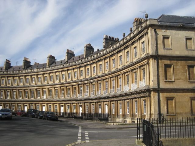 House of The Circus, Bath. The Circus is similar to the Crescent but circular.