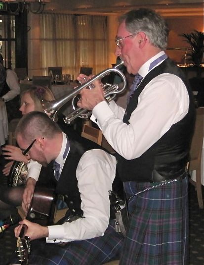 Bride's father, Hugh, plays the cornet.