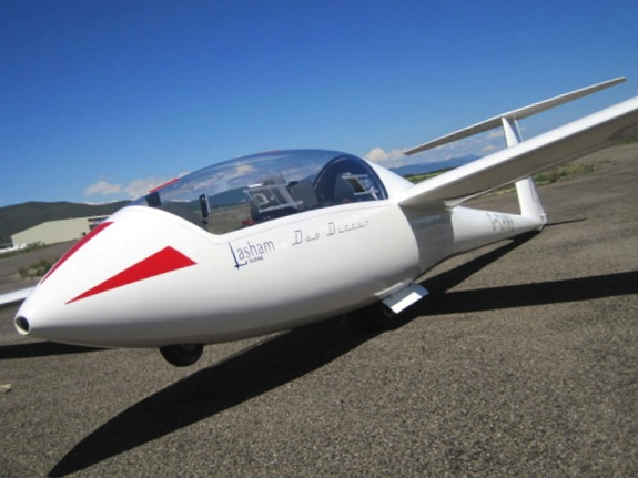 Our glider at Santa Cilia