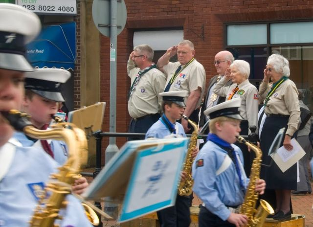 Chandler's Ford St. George's Day Parade 27th April 2014. Image credit: Richard Moss.