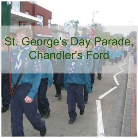 St. George's Day parade in Chandler's Ford a few years ago.