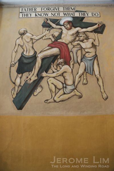 Crucifixion mural by Stanley Warren, POW in Changi, 1942 - 1943 (Image credit: Jerome Lim)