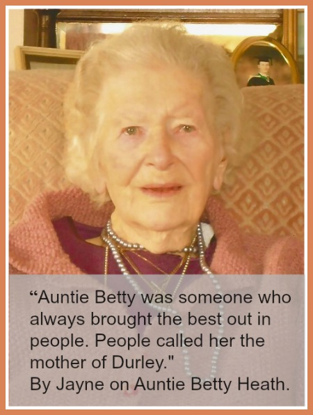 Betty Heath - who died aged 97 this year.