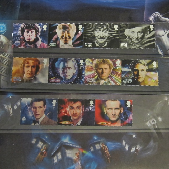 Doctor Who (1963 - 2013) Royal Mail Mint Stamps.