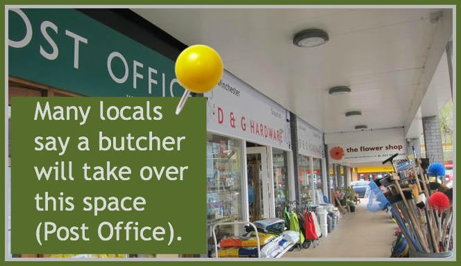 A butcher may be next door to D & G Hardware and Homeware store at the Fryern Arcade, Chandler's Ford.
